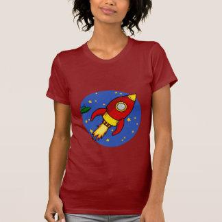 Rocket red yellow Ladies T-Shirt