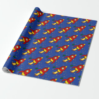 """Rocket red yellow Matte Wrapping Paper 30""""x6'"""