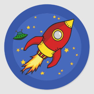 Rocket red yellow Sticker