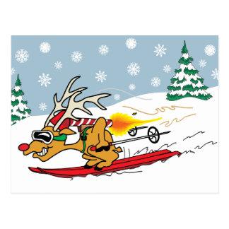 Rocket Reindeer Card #2 Postcard