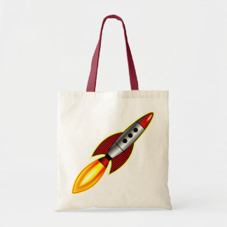 Rocket retro bolsa lienzo