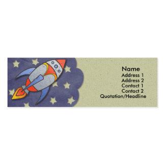 Rocket retro embroma tarjetas flacas del perfil tarjetas de visita mini