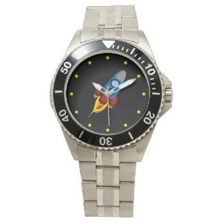 Rocket retro reloj de mano