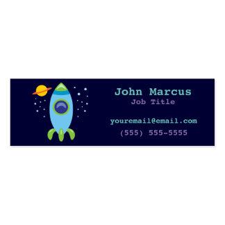 Rocket retro tarjetas de visita mini