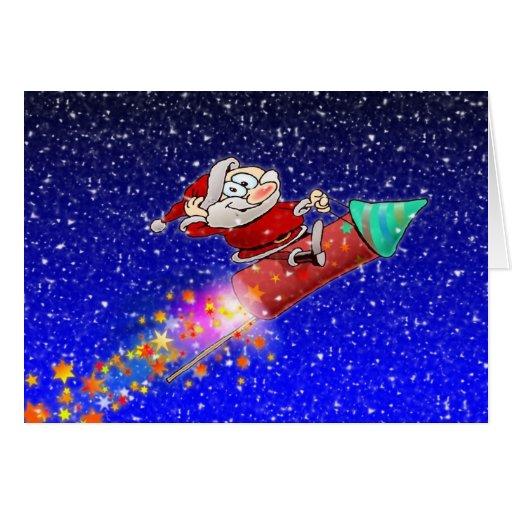 Rocket Santa Tarjetón