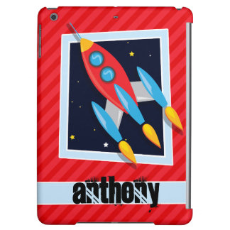 Rocket; Scarlet Red Stripes Case For iPad Air