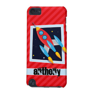 Rocket; Scarlet Red Stripes iPod Touch 5G Cover