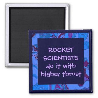 rocket science humor 2 inch square magnet