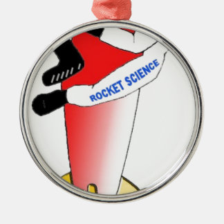 Rocket Science Metal Ornament