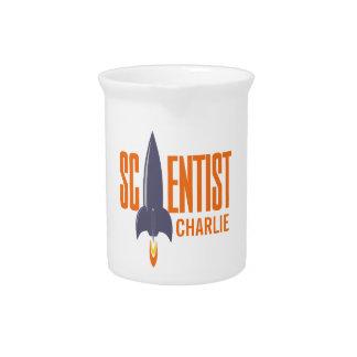Rocket Scientist custom name pitcher