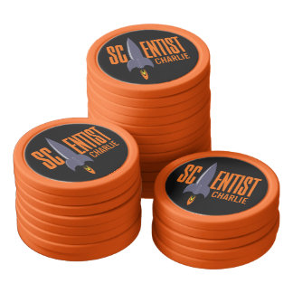 Rocket Scientist custom name poker chips