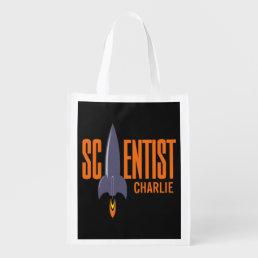 Rocket Scientist custom name reusable bag