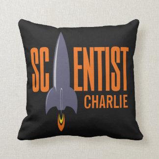 Rocket Scientist custom name throw pillows