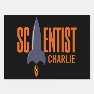 Rocket Scientist custom name yard signs