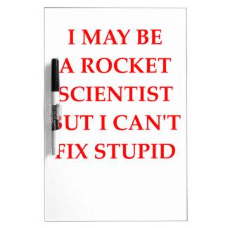 rocket scientist dry erase board