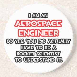 Rocket Scientist .. Funny Aerospace Engineer Drink Coaster