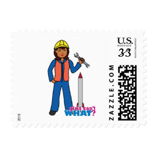 Rocket Scientist Girl Stamp