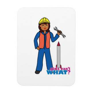 Rocket Scientist Girl Rectangular Magnet