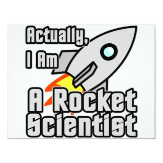 "Rocket Scientist 4.25"" X 5.5"" Invitation Card"