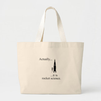 Rocket scientist large tote bag