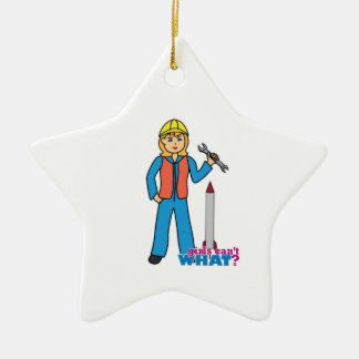 Rocket Scientist - Light/Blonde Ceramic Ornament