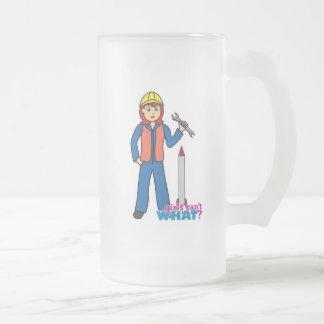 Rocket Scientist - Light/Red Frosted Glass Beer Mug