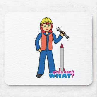 Rocket Scientist - Light/Red Mousepad