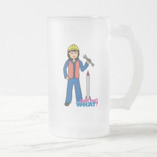 Rocket Scientist - Medium Frosted Glass Beer Mug