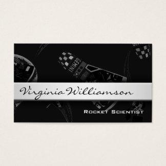Rocket Scientist Modern Black Business Cards