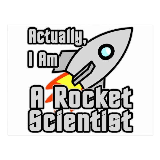 Rocket Scientist Postcard