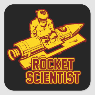 Rocket Scientist Square Sticker
