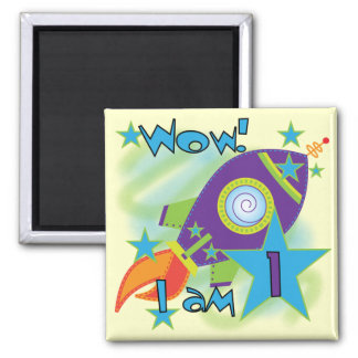 Rocket Ship 1st Birthday Tshirts and Gifts Magnet
