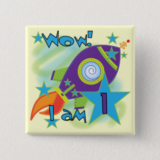 Rocket Ship 1st Birthday Tshirts and Gifts Pinback Button
