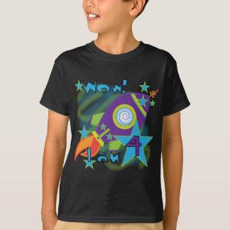 Rocket Ship 4th Birthday T-shirts and Gifts