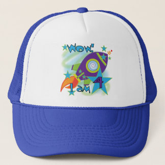 Rocket Ship 4th Birthday T-shirts and Gifts Trucker Hat