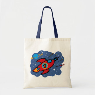 Rocket Ship 4th Birthday Tote Bag