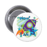 Rocket Ship 5th Birthday T-shirts and Gifts Button