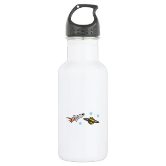 ROCKET SHIP AND SATURN WATER BOTTLE