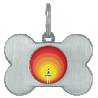 Rocket ship and the sunspot pet tag