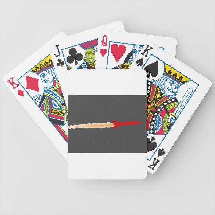 Rocket Ship Bicycle Playing Cards