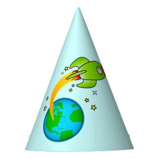 Rocket Ship Blast Off Birthday Party Hat