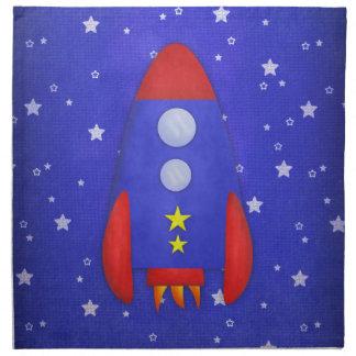 Rocket Ship Cloth Napkin
