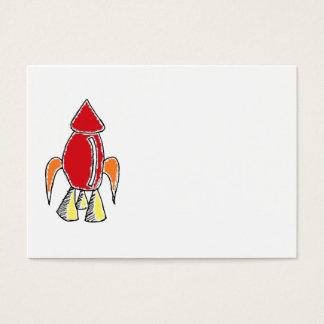 Rocket ship Design Business Card
