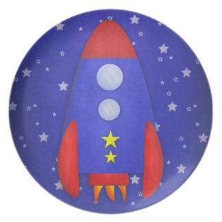 Rocket Ship Dinner Plate