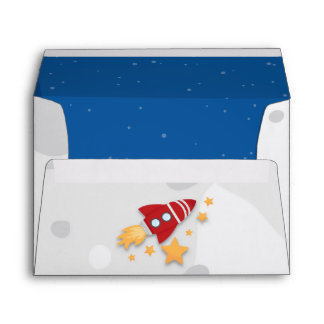 Rocket Ship Envelope