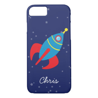 Rocket Ship in Space iPhone 8/7 Case