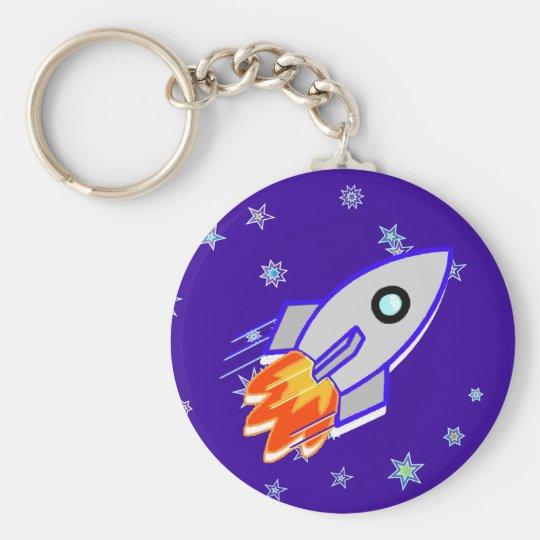 Rocket Ship Keychain
