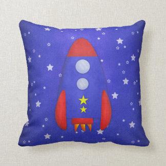 Rocket Ship Kid's Toss Pillow