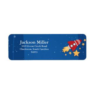 Rocket Ship Return Address Label