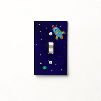 Rocket Ship Light Switch Cover